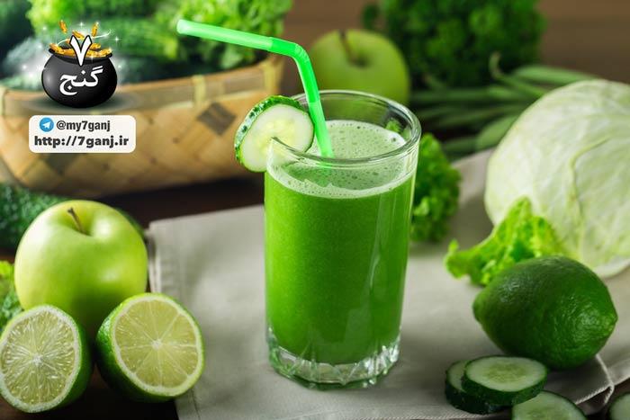 آبمیوه سبز مکزیکی