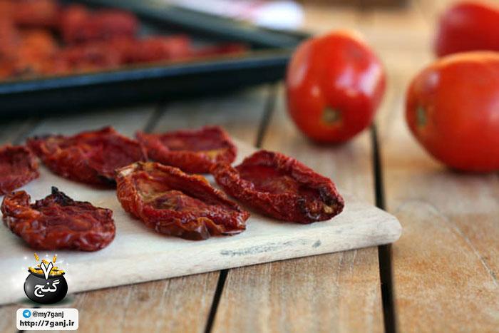 گوجه فرنگی خشک شده