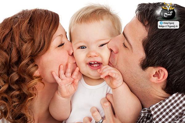 بوسیدن کودکان