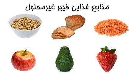 فیبر غیرمحلول و منابع غذایی آن