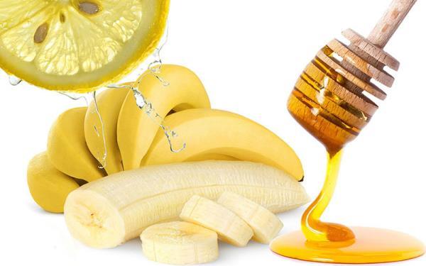 ماسک موز، عسل و لیمو