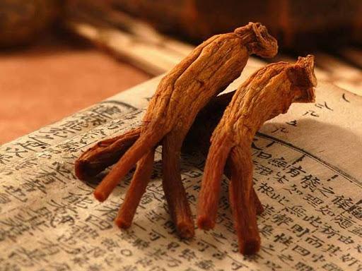 ریشه ی خشک شده ی جینسینگ