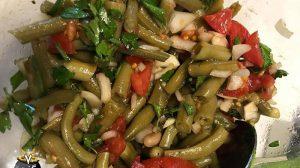 سالاد یونانی با لوبیا سبز