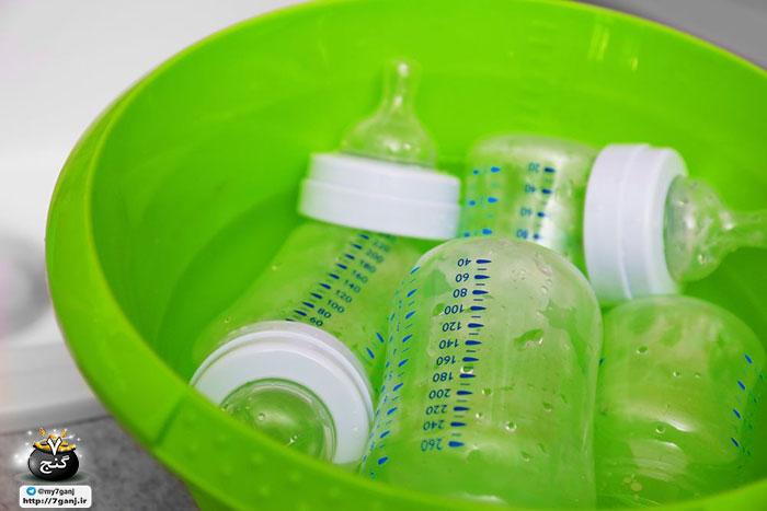 استریل کردن بطری شیر