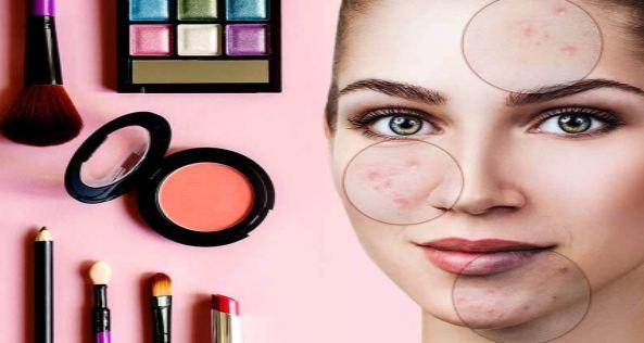 عوارض ارایش بر نقاط مختلف پوست صورت