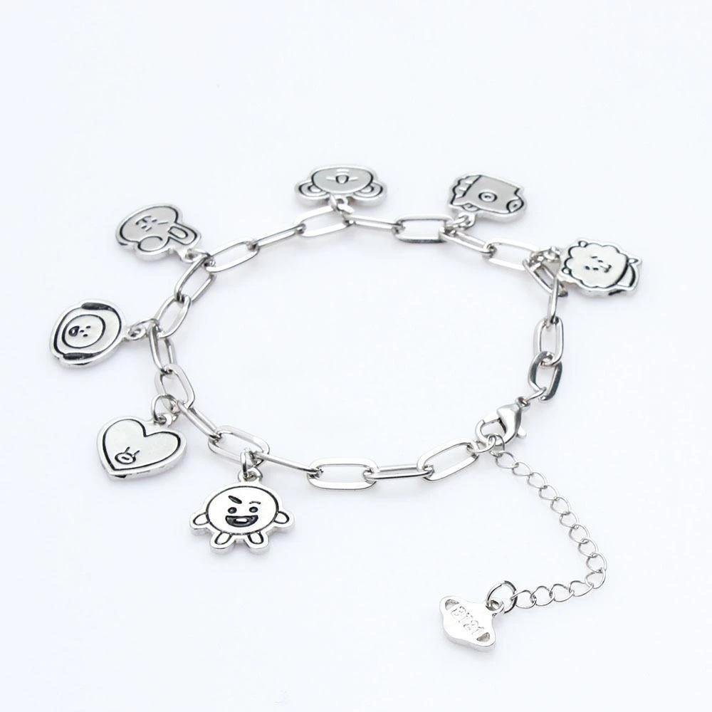دستبند با طرح عروسک های بی تی اس
