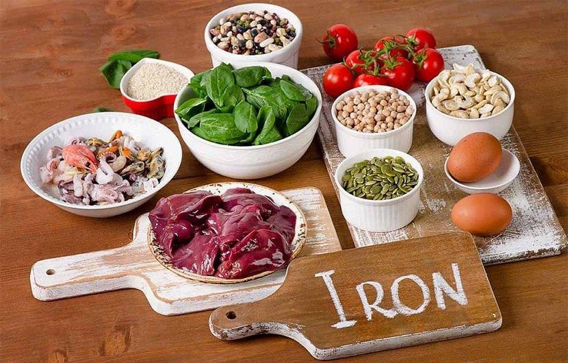 مواد غذایی سرشار از اهن