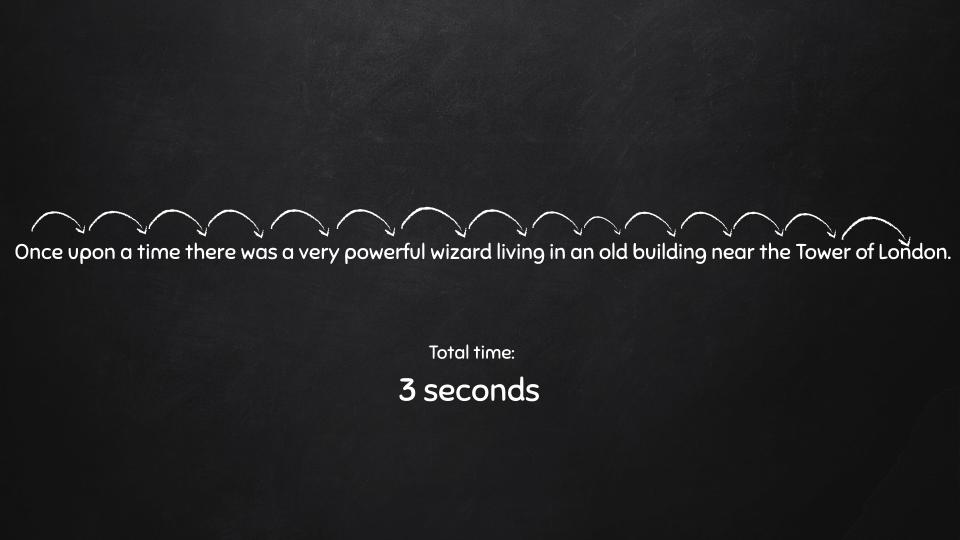 خواندن هر کلمه در یک خط - 3 ثانیه