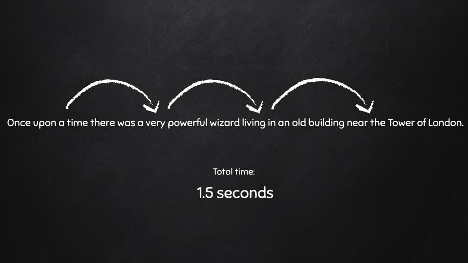 خواندن گروهی از کلمات در یک خط - 1.5 ثانیه