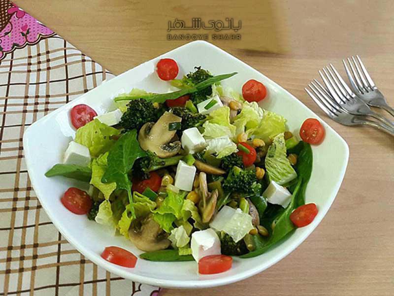 طرز تهیه خوراک سبزیجات با کلم بروکلی