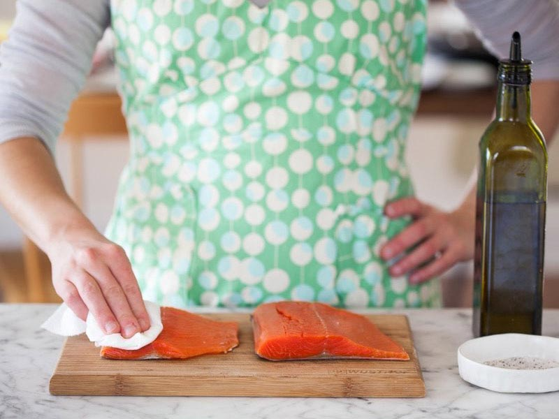 طرز تهیه طریقه ی پخت ماهی سالمون در فر خوشمزه و سریع
