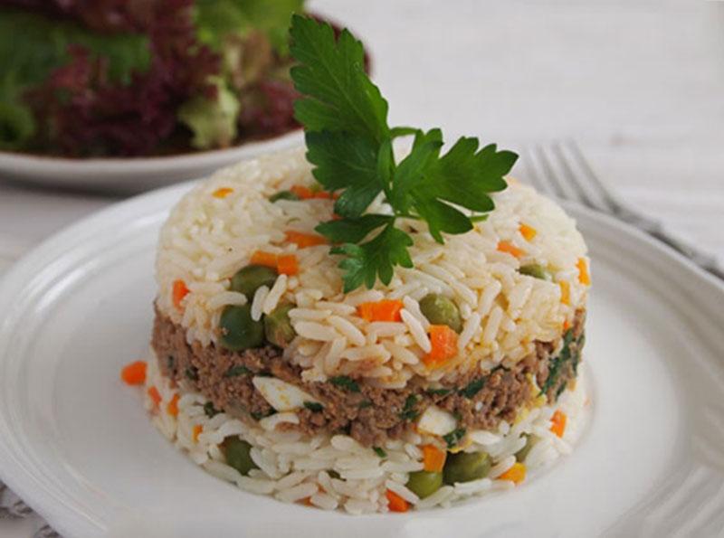 طرز تهیه کامل پلوی شاهانه سبزیجات و گوشت