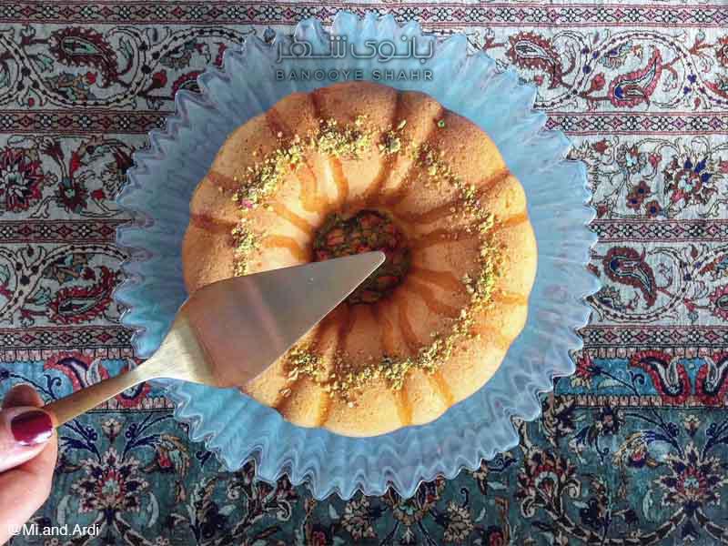 طرز تهیه کیک عشق ایرانی