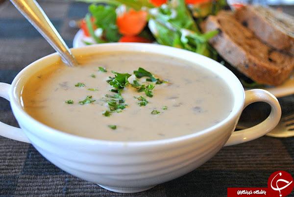 طرز تهیه کامل سوپ قارچ با خامه خوشمزه کلاسیک