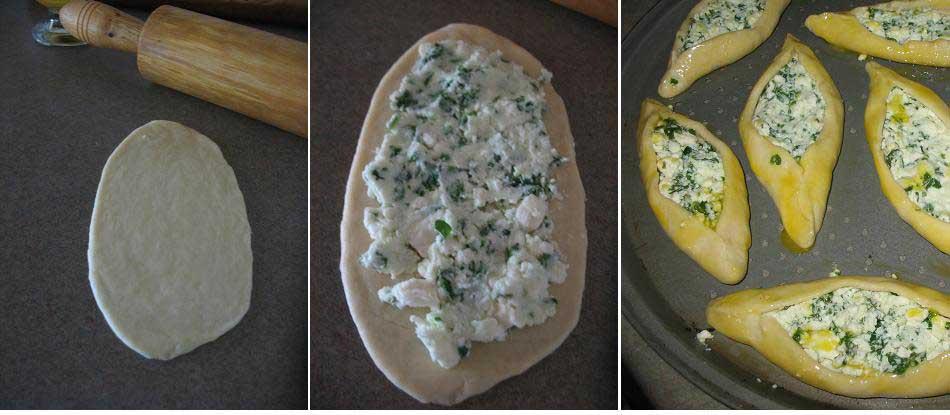 طرز تهیه کامل  پیده با پنیر، اسفناج و تخم مرغ