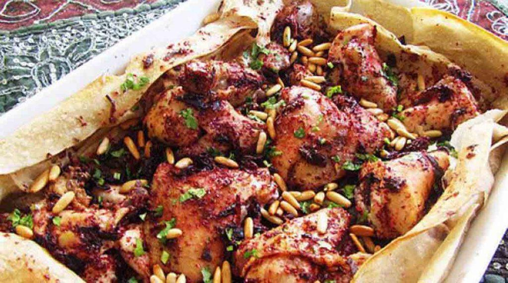 طرز تهیه کامل مسخن، غذای مرغ عربی با سماق
