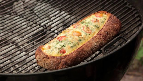 طرز تهیه یک صبحانه پنیری ساده و خوشمزه