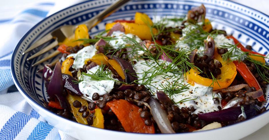 طرز تهیه سبزیجات کبابی با ماست ایسلندی