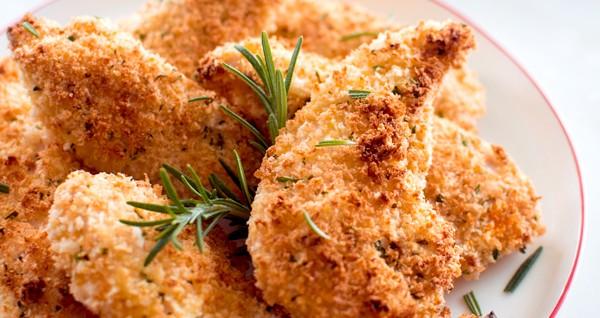 طرز تهیه مرغ سوخاری با رزماری و پارمسان