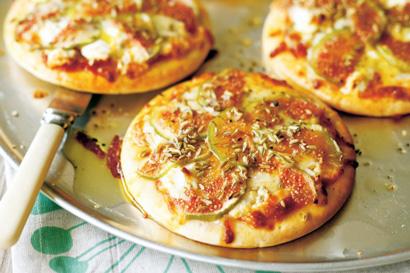 طرز تهیه › پیتزای انجیر و پنیر بز