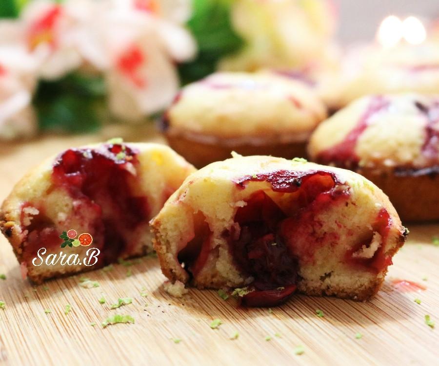 طرز تهیه کاپ کیک آلبالو