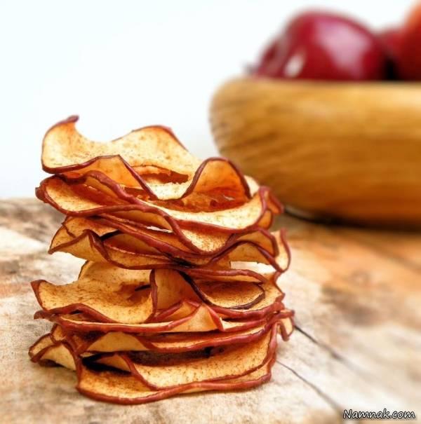 طرز تهیه چیپس سیب