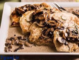 طرز تهیه خوراک مرغ و قارچ ایتالیایی