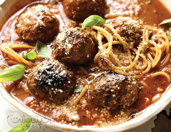 طرز تهیه سوپ کوفته و اسپاگتی(به سبک ایتالیایی)