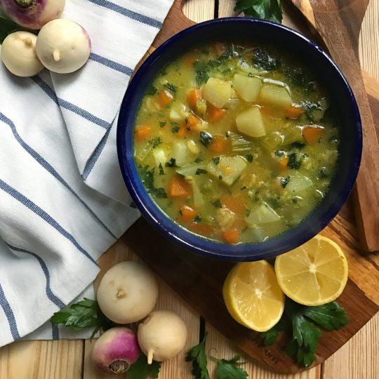 طرز تهیه سوپ شلغم مرحله به مرحله