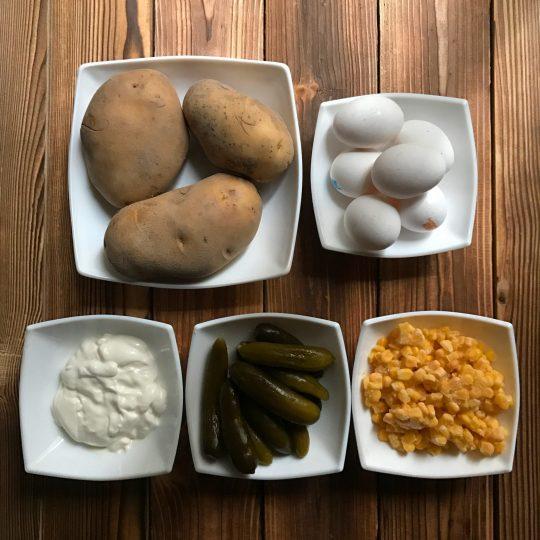 طرز تهیه سالاد الویه بدون مرغ