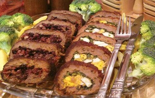 طرز تهیه رولت گوشت با طعم زرشک