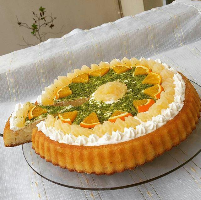 طرز تهیه کیک شربتی پرتقالی (روانی)