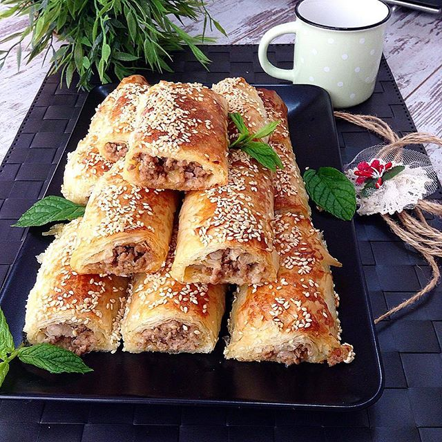 طرز تهیه بورک گوشت با یوفکای باقلوا