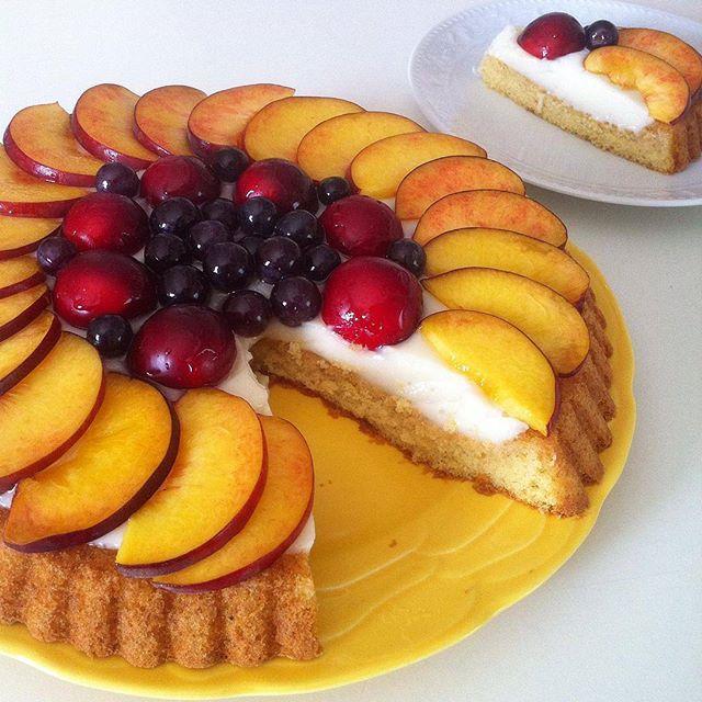 طرز تهیه تارت کیک با میوه های تابستانی