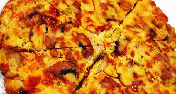 طرز تهیه کوکو سیب زمینی پیتزایی