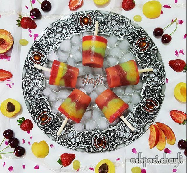 طرز تهیه بستنی یخی میوه ای