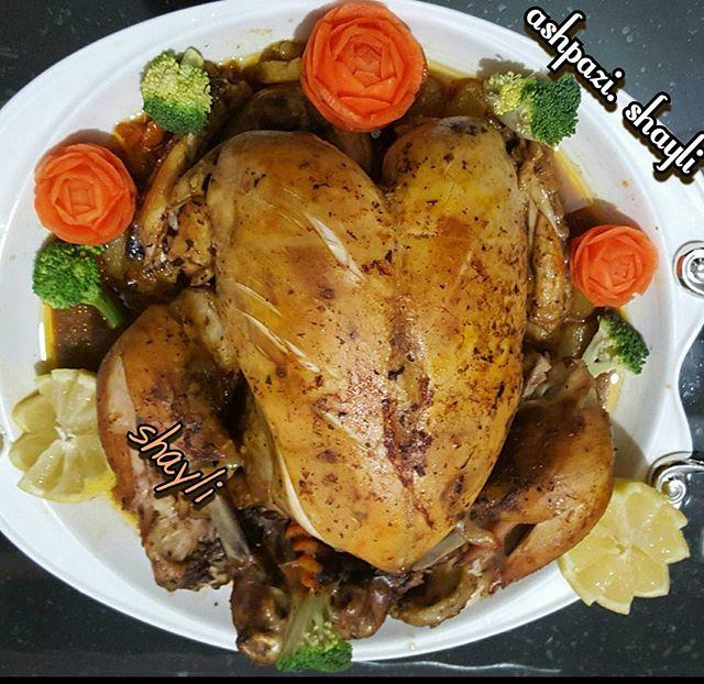طرز تهیه مرغ شکم پر در فرمرغ شکم پر در فر