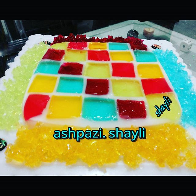 طرز تهیه ژله شطرنجی